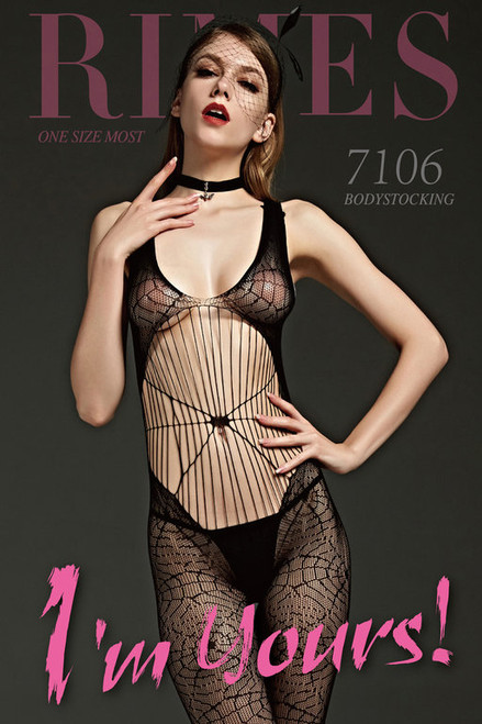 BodyStocking   7106 BLACK O/S