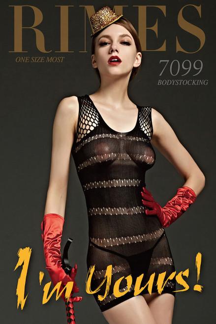 DRESS 7099 BLACK O/S