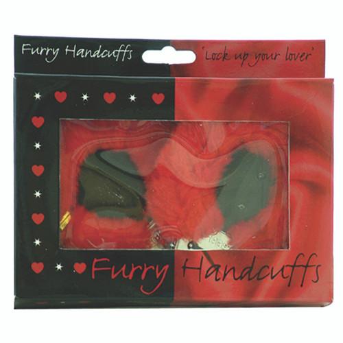 Furry Handcuffs Red