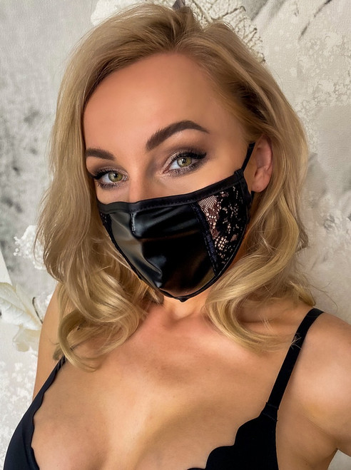 Power wet look Mask lace