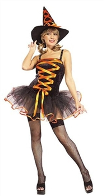 Halloween costume with  hat,g-string Colour: yellow and pink