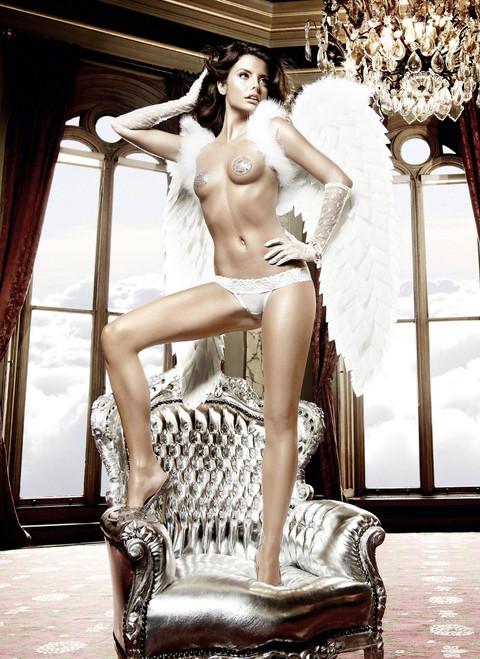 White Lace/Mesh Thong