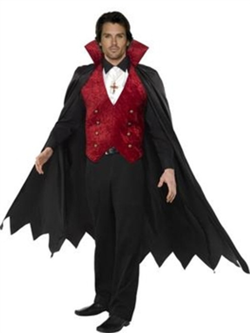 Vampire Costume, Black and Red