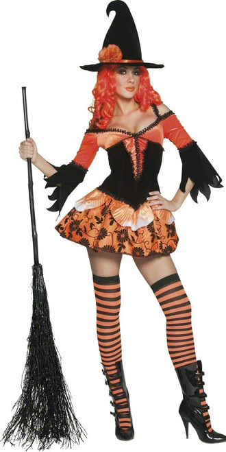 Tainted Garden Wicked Witch Costume, Orange and Black