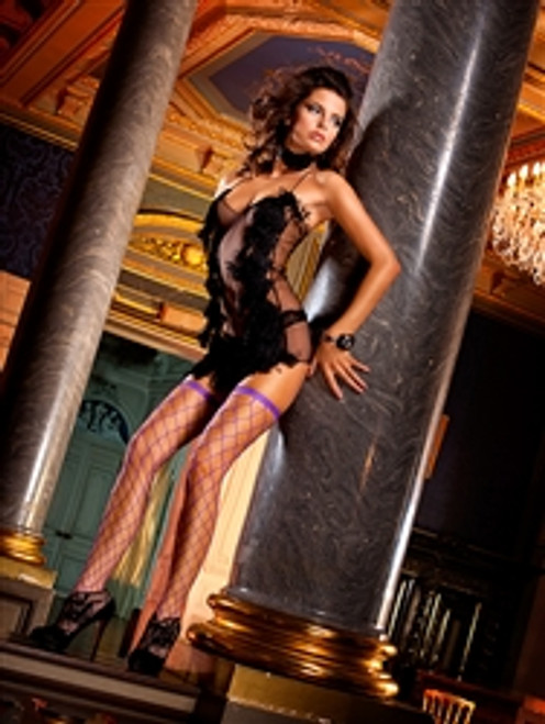 These simple, elegant, Stockings are ideal for both everyday use and intimate moments. The coarse mesh structure shows a lot of skin, but at the same time leaves a lot to the imagination  you'll definitely notice it. One-size-fits-all;