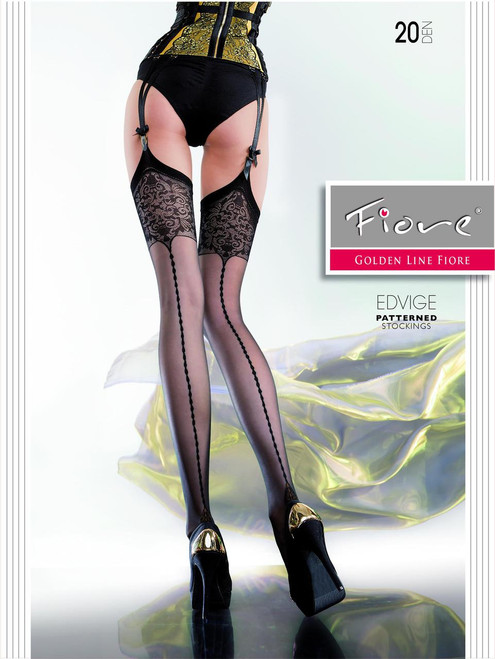 EDVIGE 20 DEN  PATTERNED STOCKINGS