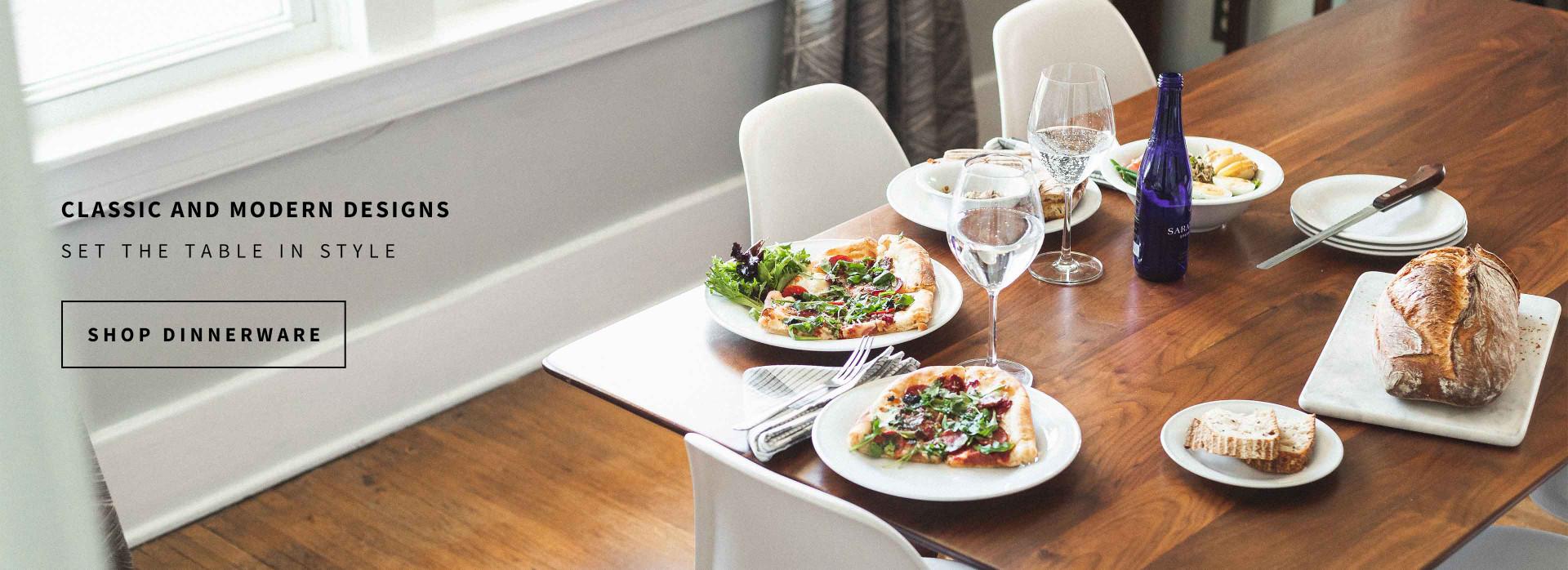 classic and modern designs, shop dinnerware