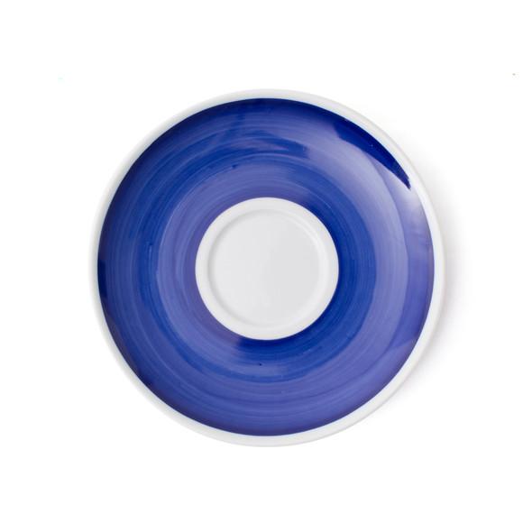 Verona Blue Hand-Painted Jumbo Latte Saucer