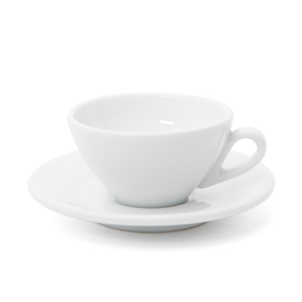 Ancona Single Cappuccino Cup and Saucer - 4.7oz - Set of 6
