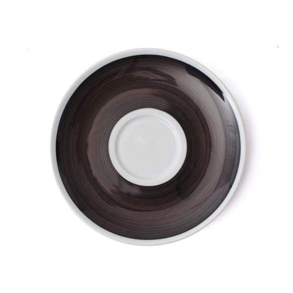 Verona Black Hand-Painted Jumbo Latte Saucer