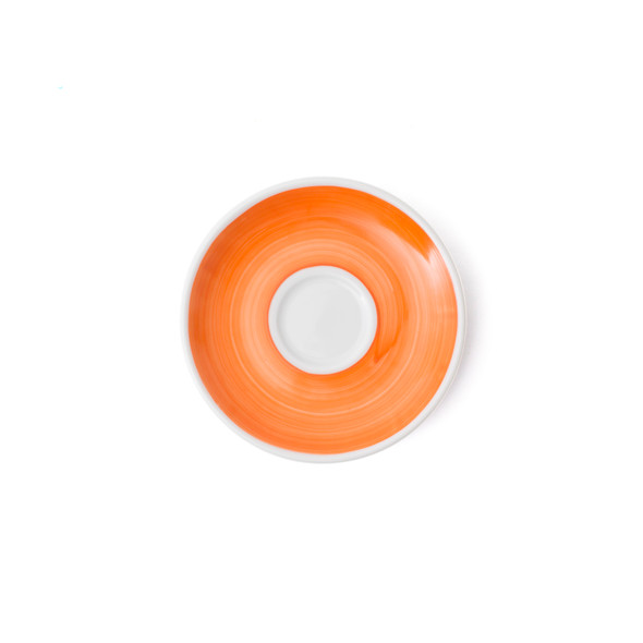 Verona Orange Hand-Painted Espresso Saucer - Set of 6
