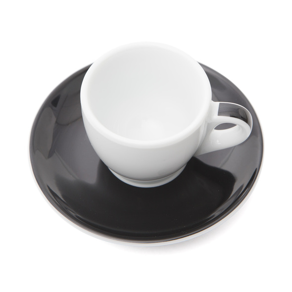 Verona Black Striped Espresso Cup and Saucer - 2.5oz