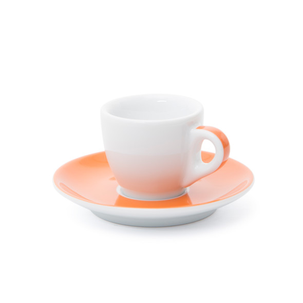 Verona Orange Striped Espresso Cup and Saucer - 1.9oz