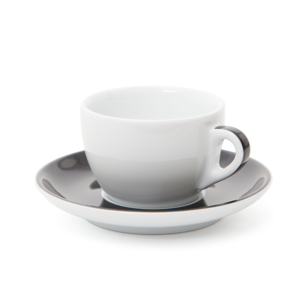 Verona Black Striped Cappuccino Cup and Saucer - 6.1oz