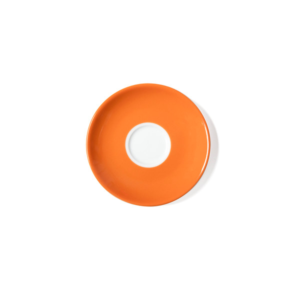 Verona Orange Solid Espresso Saucer