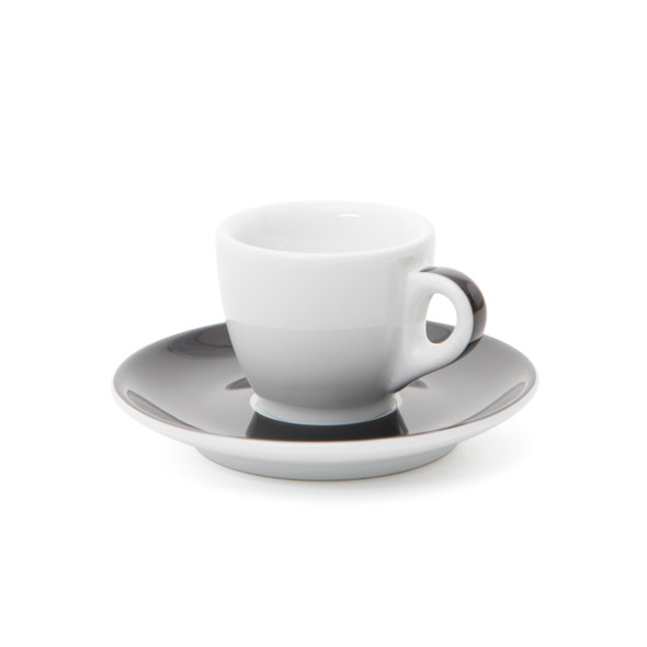 Verona Black Striped Espresso Cup and Saucer - 1.9oz