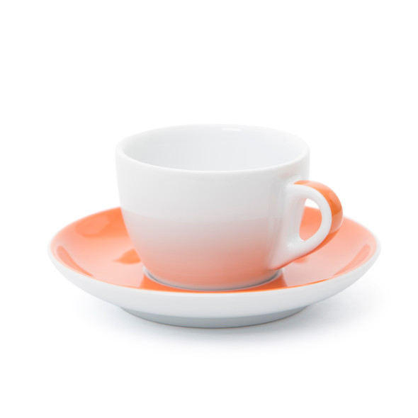 Verona Orange Striped Competition Cappuccino Cup and Saucer - 5.1oz