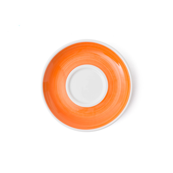 Verona Orange Hand-Painted Cappuccino Saucer