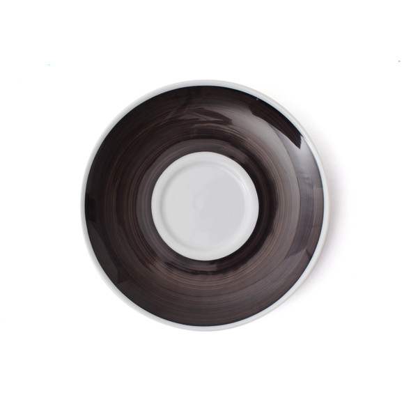 Verona Black Hand-Painted Latte Saucer Top