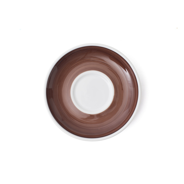 Verona Brown Hand-Painted Cappuccino Saucer