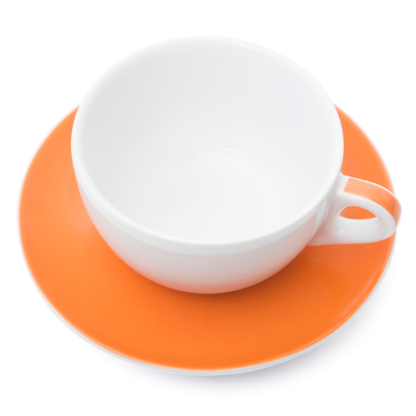 Verona Orange Striped Latte Cup and Saucer - 11.8oz