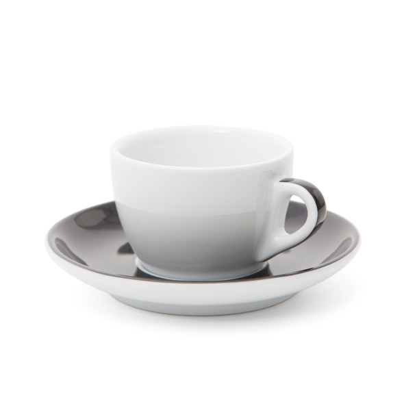 Verona Black Striped Competition Cappuccino Cup and Saucer - 5.1oz