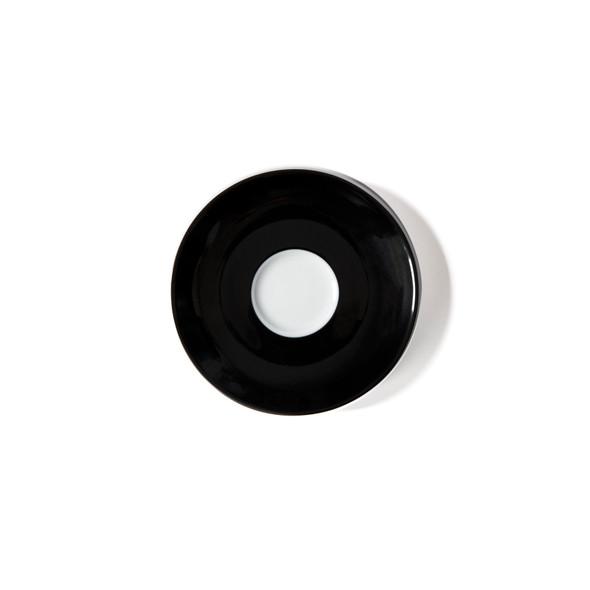 Verona Black Solid Espresso Saucer - Set of 6