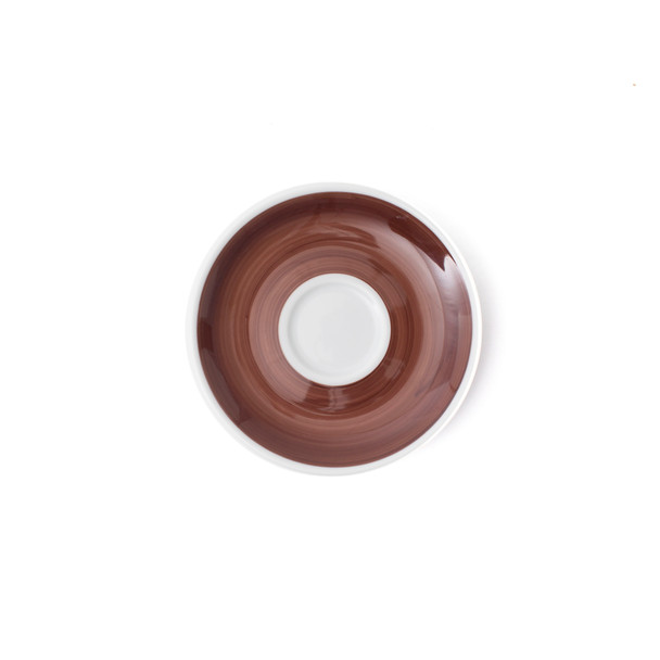 Verona Brown Hand-Painted Espresso Saucer