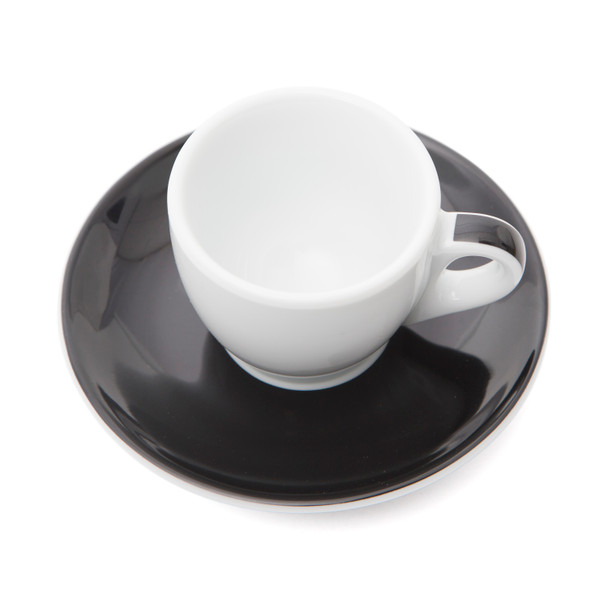 Verona Black Striped Espresso Cup and Saucer - 2.5oz