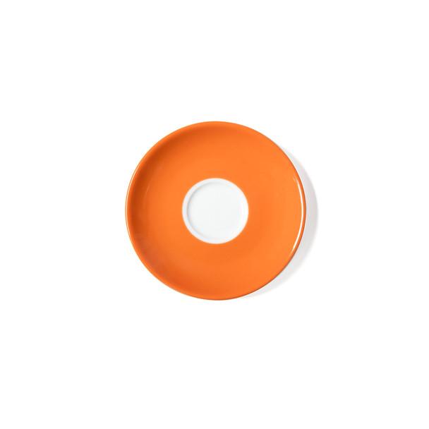 Verona Orange Solid Espresso Saucer - Set of 6