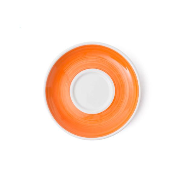 Verona Orange Hand-Painted Cappuccino Saucer - Set of 6