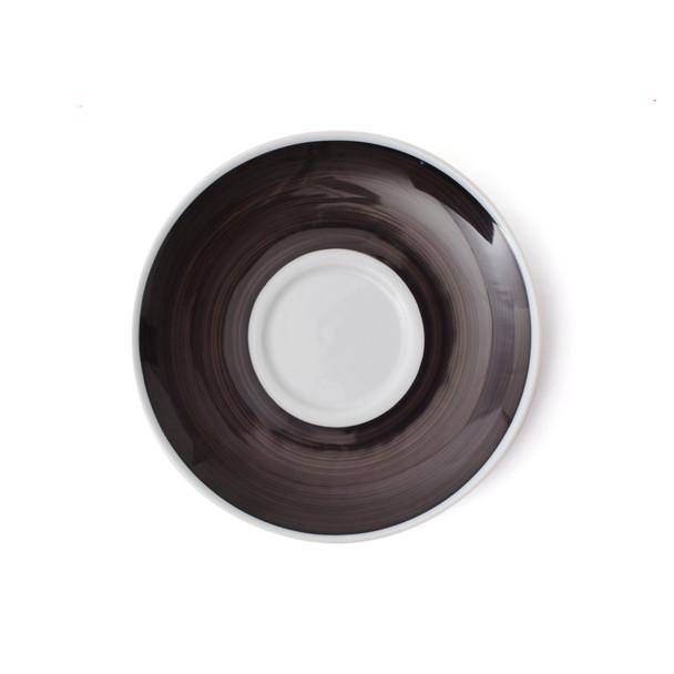 Verona Black Hand-Painted Latte Saucer Top