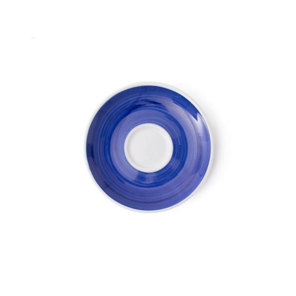 Verona Blue Hand-Painted Espresso Saucer