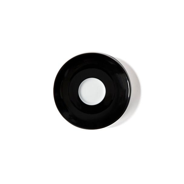 Verona Black Solid Espresso Saucer