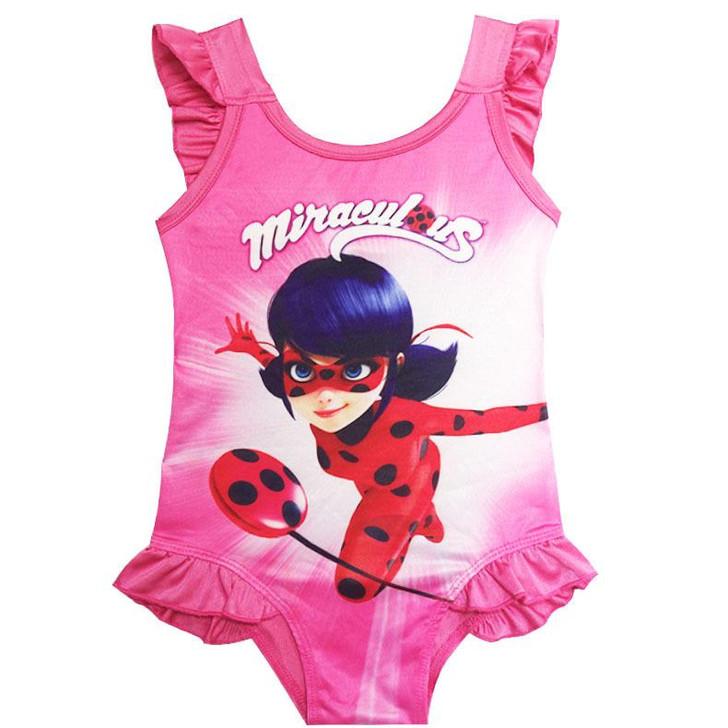 Girls Swimwear - Ladybug Costume Swimwear One Piece Set
