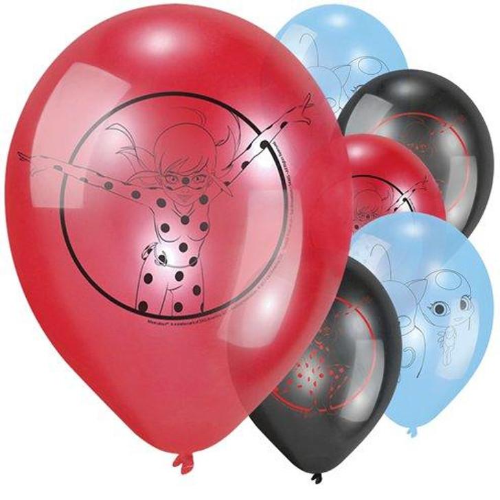 """Miraculous Ladybug Balloons - 12"""" Latex"""