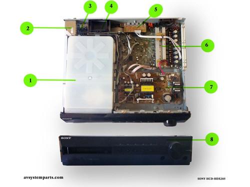SONY DAV HCD-HDX285 parts