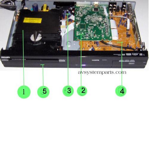 Philips DVDR3506 Parts