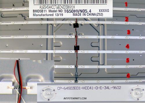 TV Vizio T650I-A2 LED Back Light