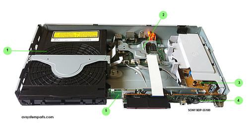 Sony BDP-S5100 Parts