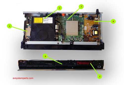 Sony BDP-S370 Parts
