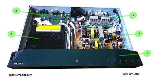 Sony BDV-E3100 Parts