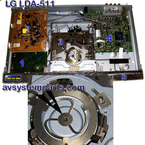 LG LDA-511 Parts:6871r-2371b,6870r9932hb,6870r9770hc,DVD Loader