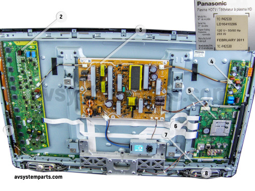 Panasonic TC-P42S30 Plasma TV Parts