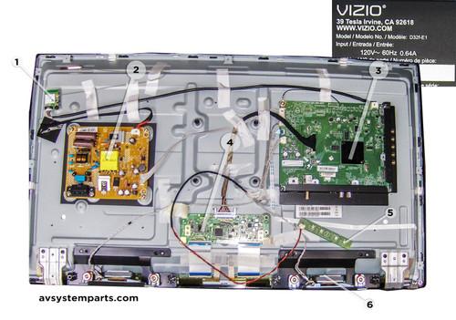 Vizio D32F-E1 Parts:715g7735,715g8320,Hv320fhb-n00,Wn4638
