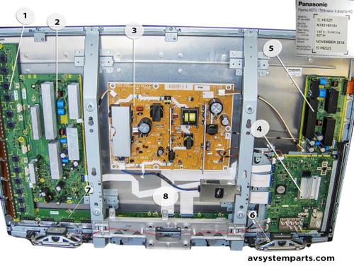 Panasonic TC-P42G25 Parts:TNPH0834,LSJB1287-21,TNPA5081,TNPA5082,TNPA5086