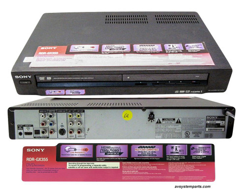 Sony RDR-GX355 1080p Tuner less DVD Recorder