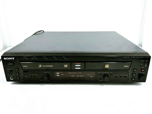 Sony RCD-W50c Compact Disk Recorder/5 Disk changer