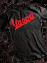 Vespa Scooters Mens T-shirt on Black