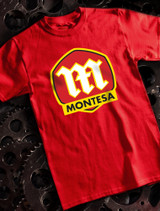 Montesa Mens T-shirt on Red